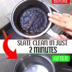 how to clean burnt steel pots