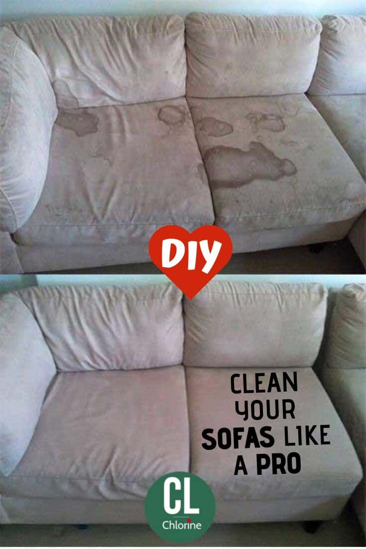 clean stains from sofas