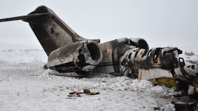 wreckage of us plane crash afghanistan