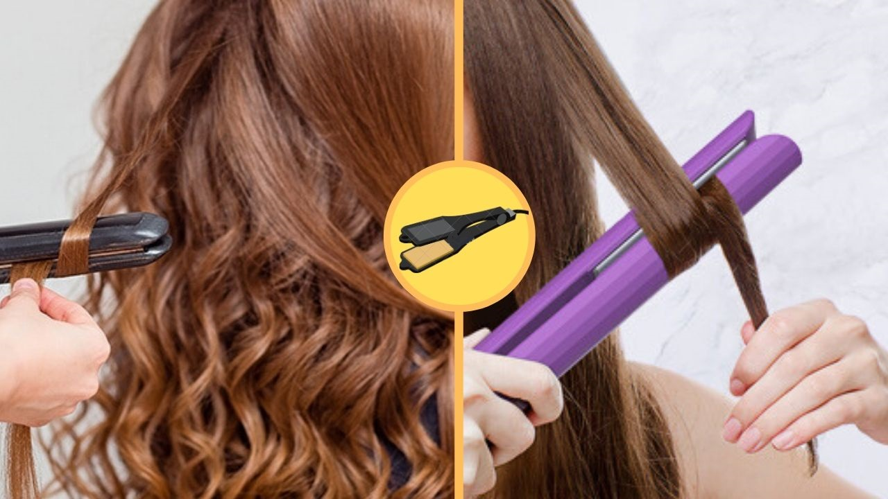 curl hair with hair straightener