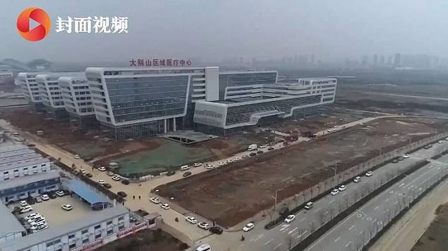 One of two coronavirus hospitals built in seven days, Wuhan, China.