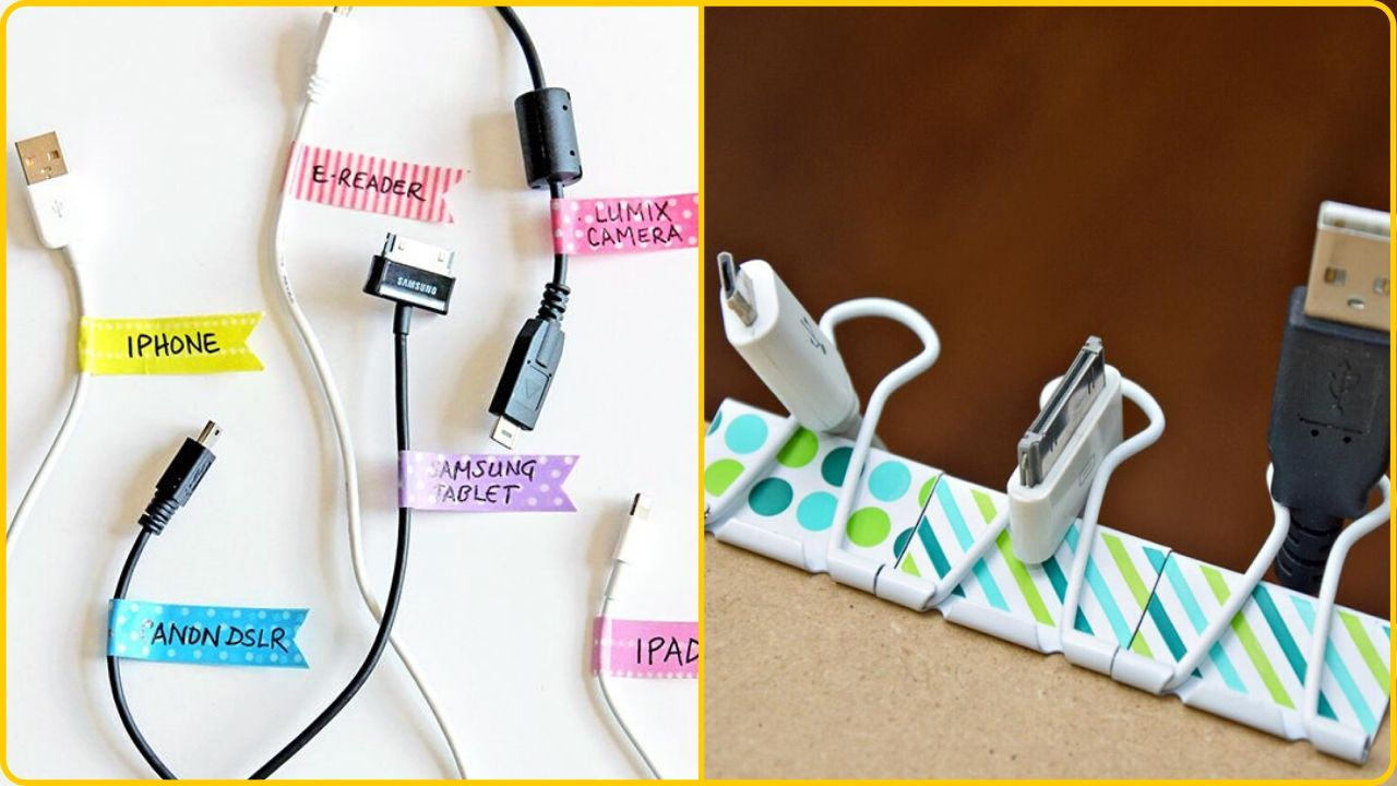 organize cords and cables