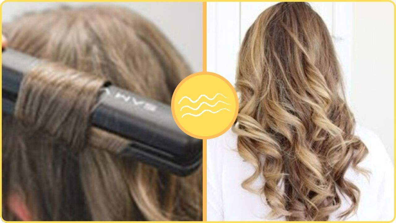ribbon curls with flat iron