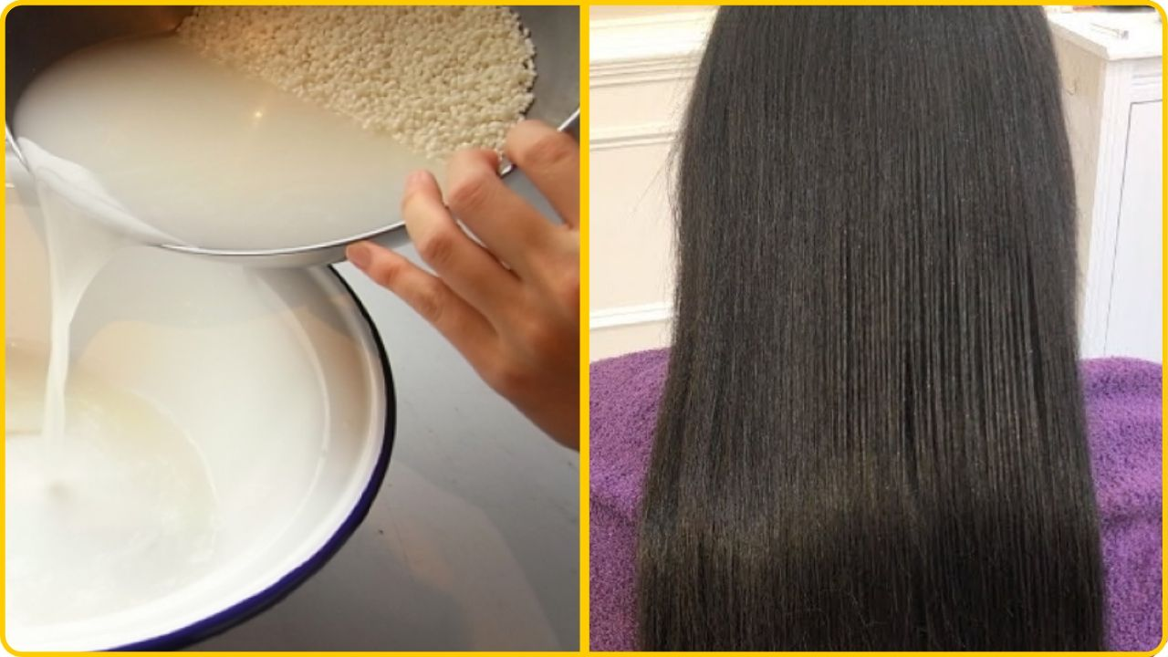 rice water hair growth recipe for strong hair