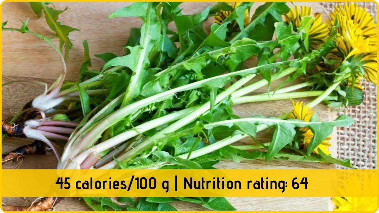 dandelion leaf nutrition health benefits
