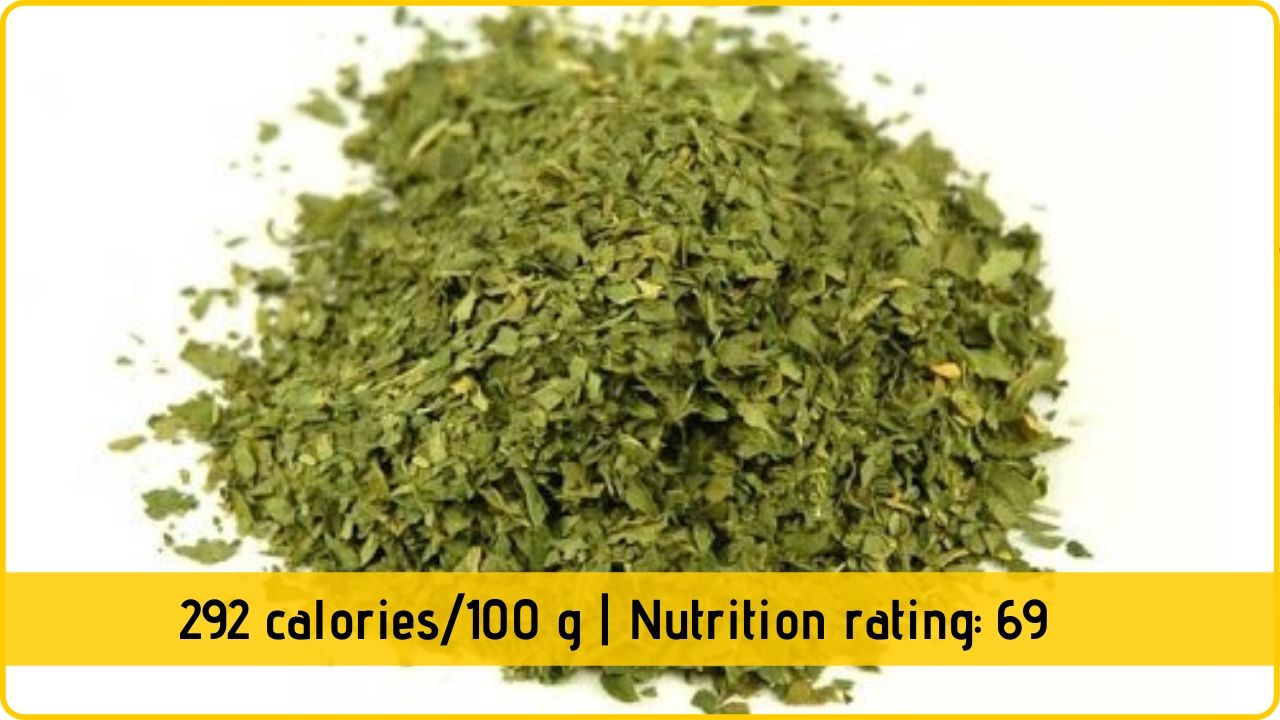 dried parsley nutrition and health benefits