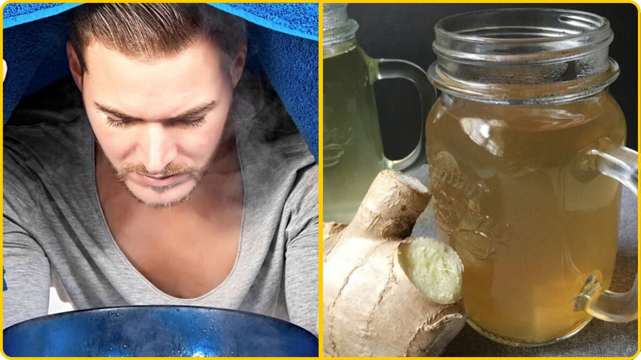 ginger tea for stuffed nose chest gongestion