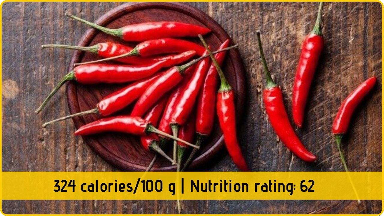 red pepper nutrion health benefits
