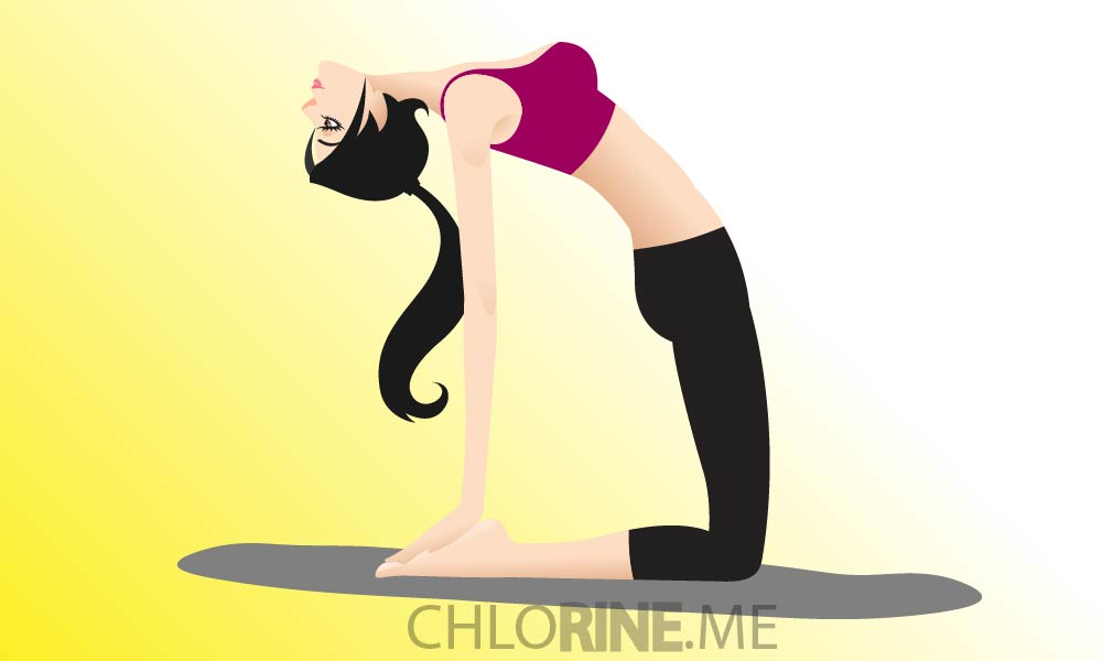 camel pose yoga for strong abs-01