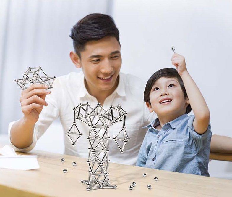 magnetic sticks and balls sculpture building