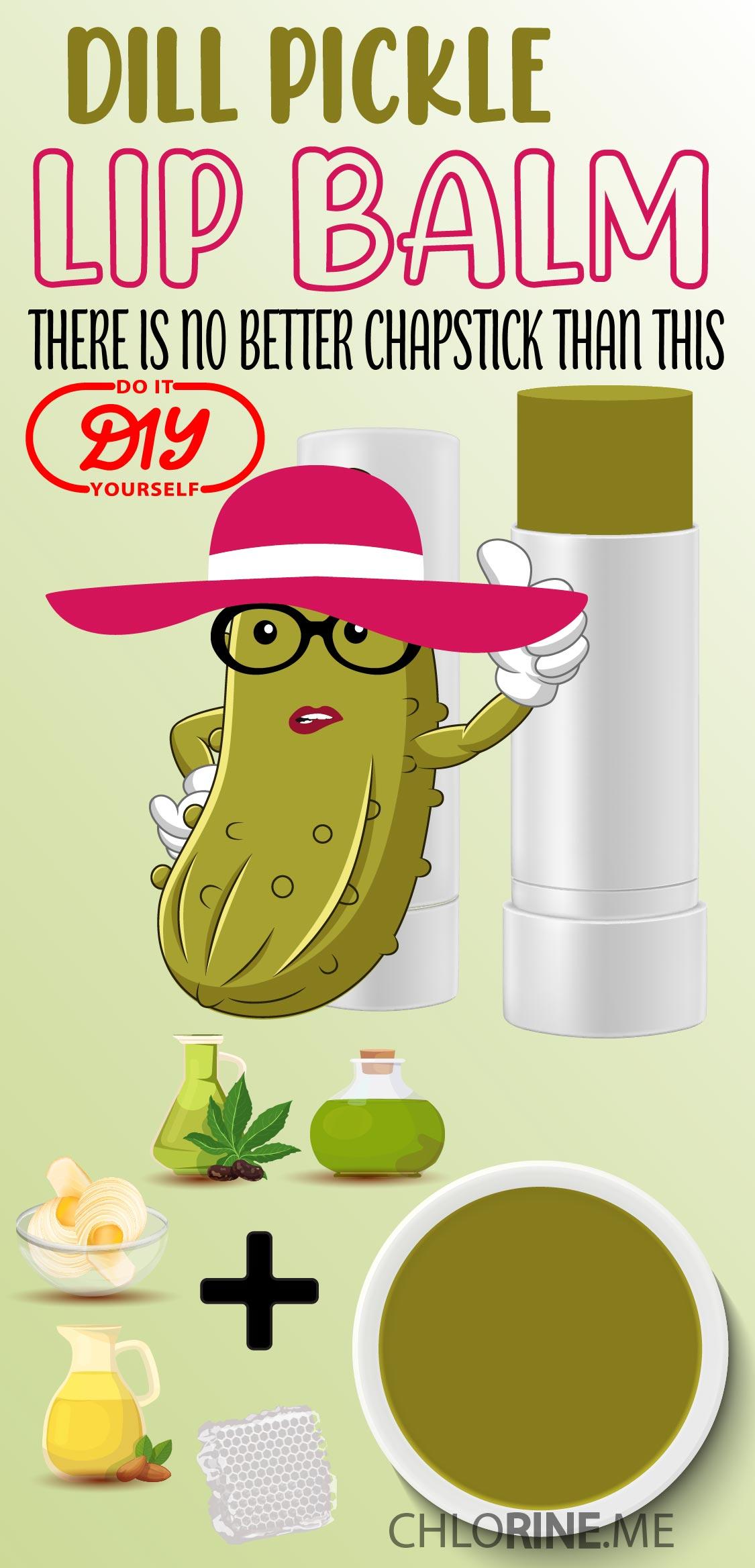 dill pickle lip balm chapstick