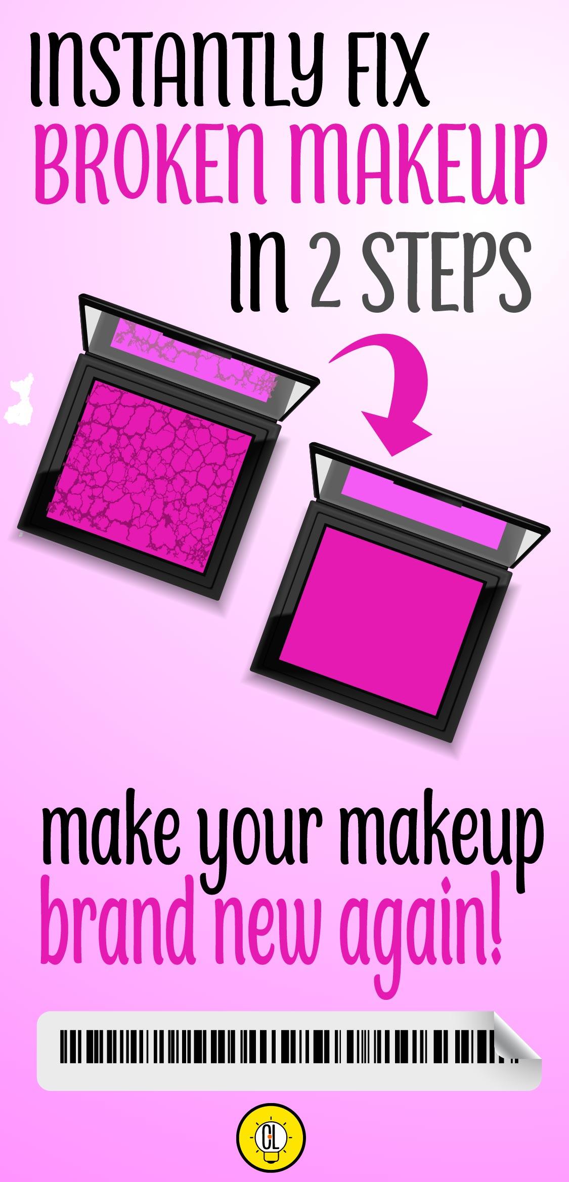 fix broken makeup in 2 steps