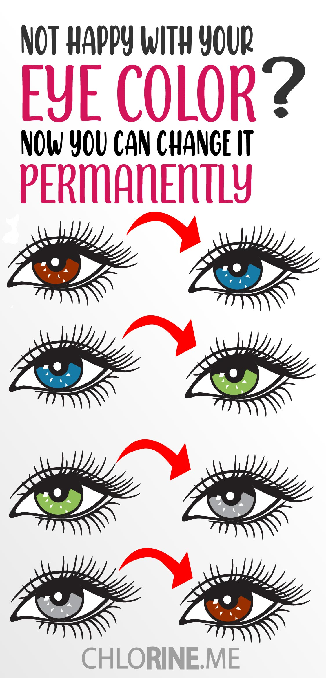 HOW TO CHANGE EYE COLOR PERMENANTLY