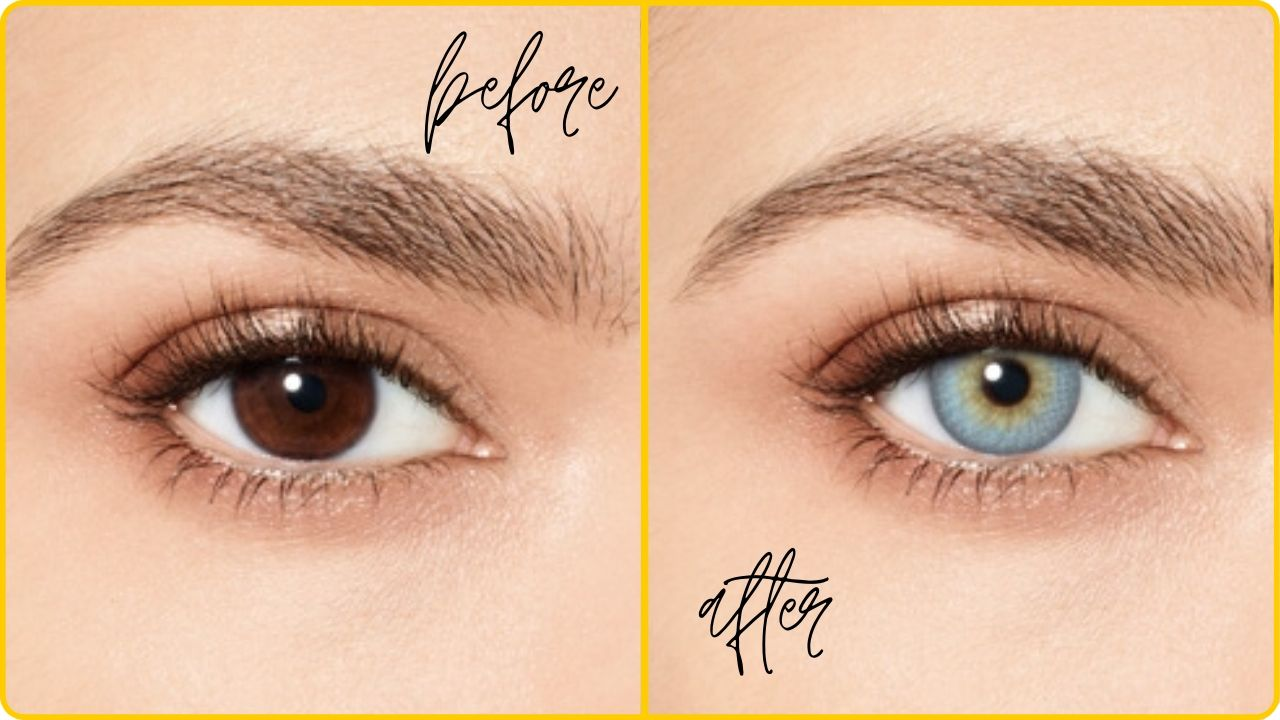 colored contact lenses eye color