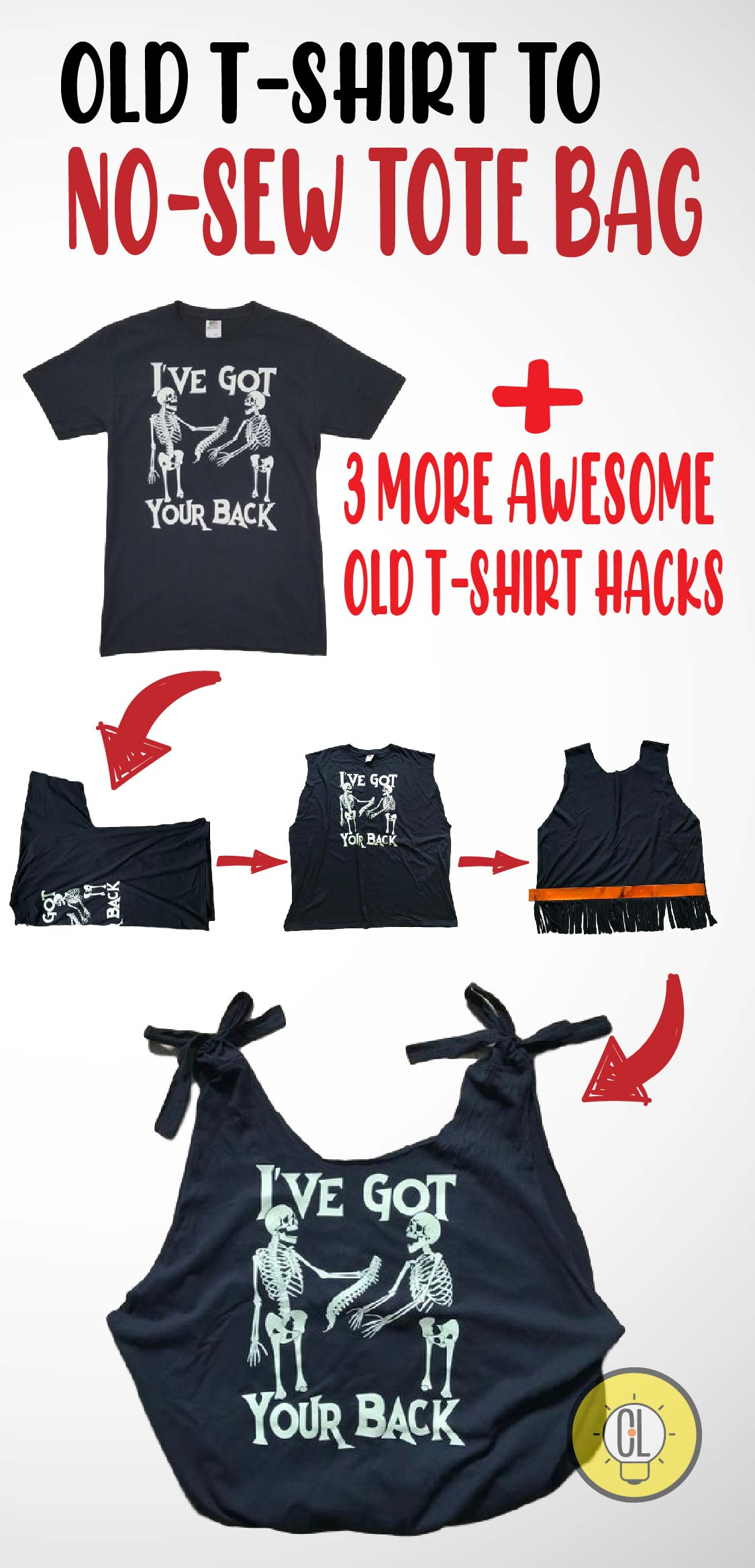 4 ways to repurpose your old t-shrit hacks