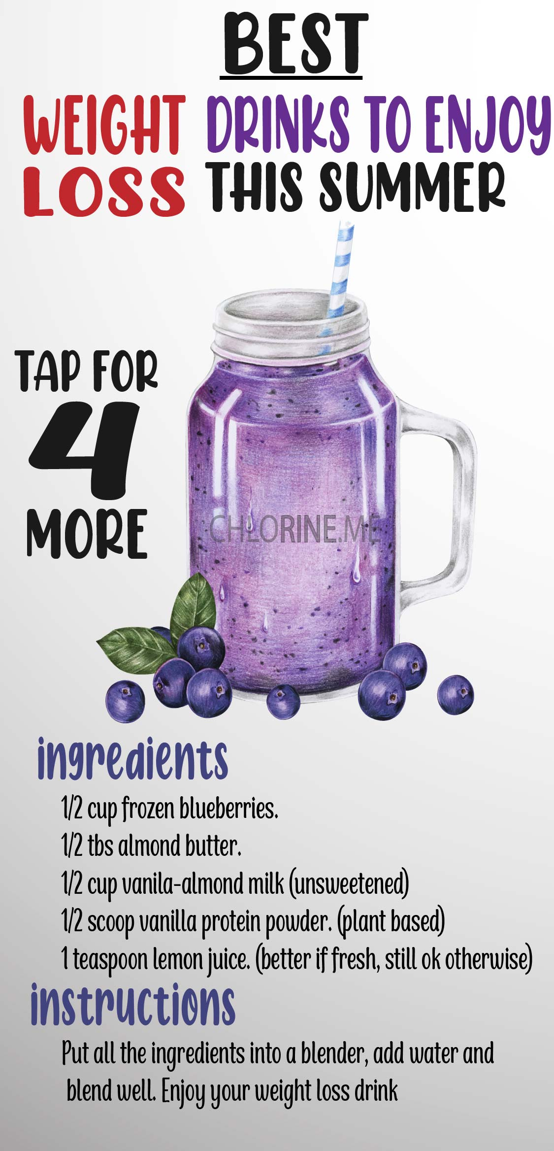 weight loss drinks