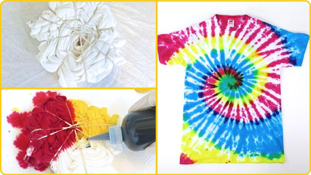 old t-shirt tie dye