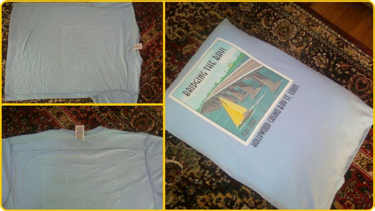 old t-shirt to pillow cover