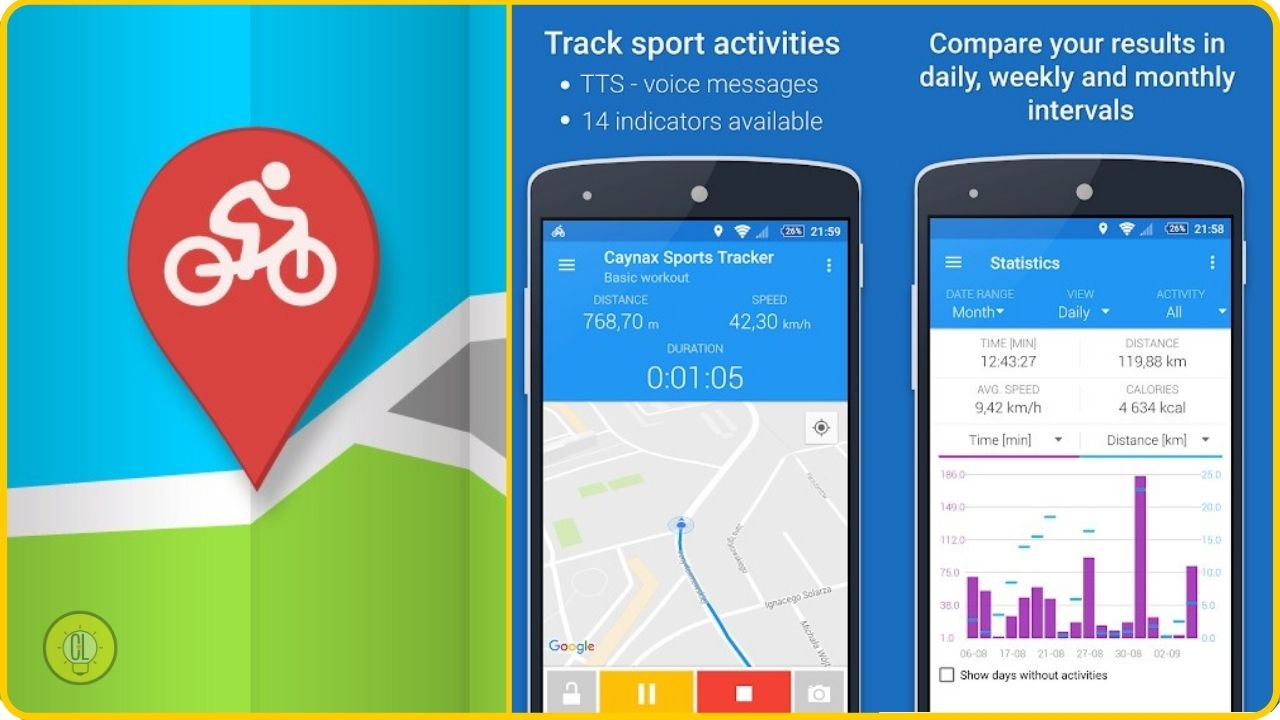 android app sports and fitness running
