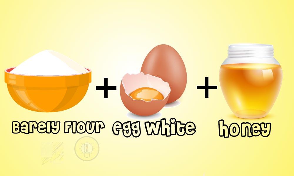 barely flour egg white honey face mask-01