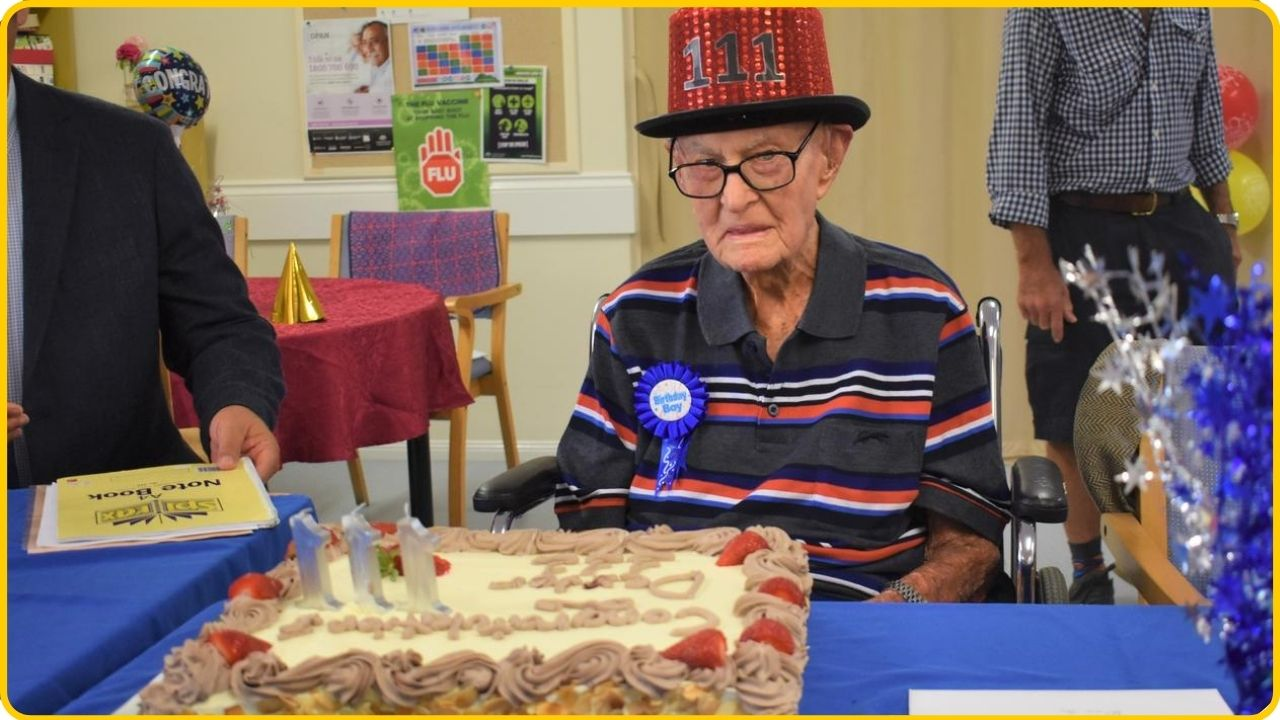 oldest man in australia celebrates his 111 birthday