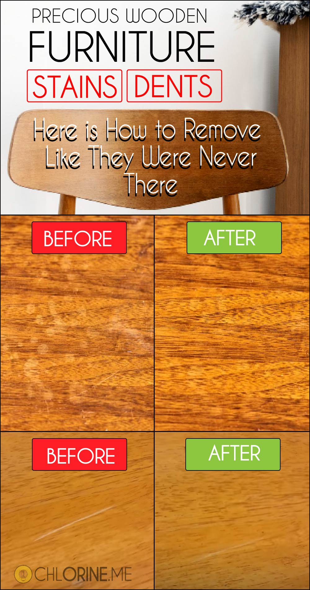 how to remove wooden furniture stains wood dents