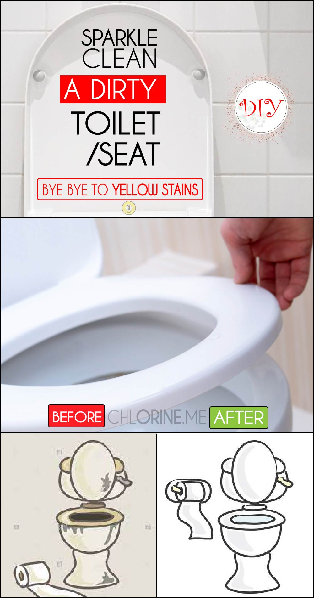 how to sparkle clean toilet seat
