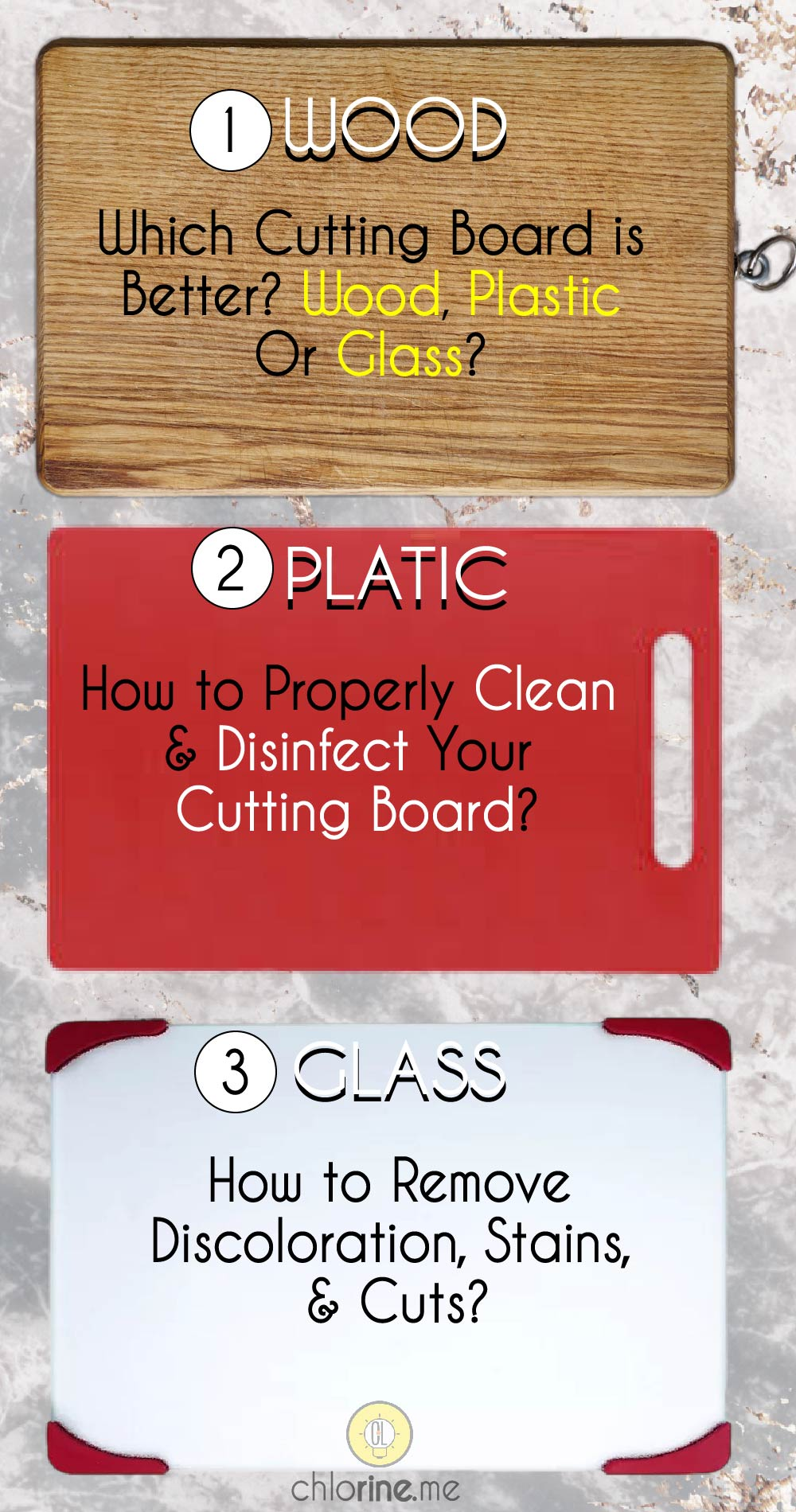 which cutting board is better, wood, plastic , or glass